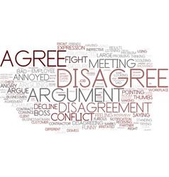 Disagree word cloud concept vector