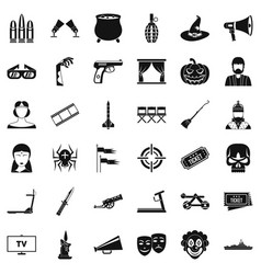 film icons set simle style vector image vector image