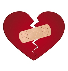 Fix a broken heart concept vector image