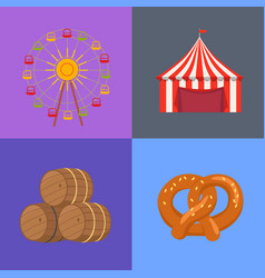 Four picture set beerfest vector