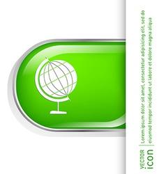 Globe symbol icon geography vector