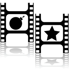 Good and bad movie vector