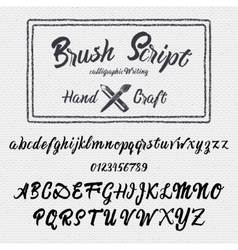 Hand drawn font handwriting brush vector image vector image