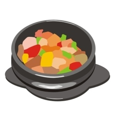Hot pot vector