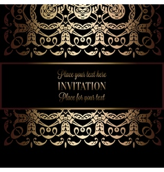 Invitation decorative 23 vector image vector image