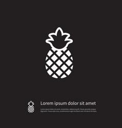 Isolated ananas icon pineapple element c vector