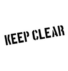 keep clear rubber stamp vector image vector image