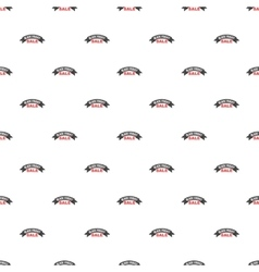 Label semicircle black friday sale pattern vector