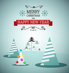 Merry christmas and happy new year winter vector