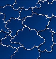 Paper dark blue paper cloud background vector