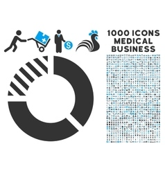 Pie Chart Icon with 1000 Medical Business vector image