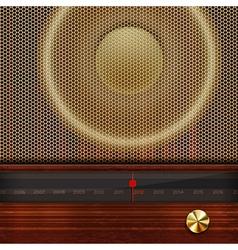 retro radio elements vector image vector image