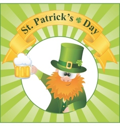 st patricks day cartoon vector image vector image