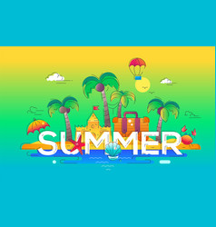 Summer - line travel vector