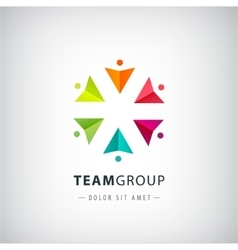 teamwork logo social net people together vector image vector image