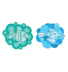 two cute and fantastic transparent vector image vector image