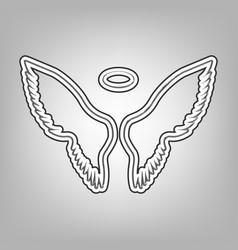 Wings sign pencil sketch vector
