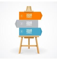 Wooden easel option banner vector