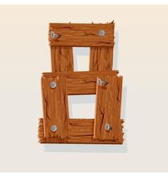 wooden type 8 vector image vector image