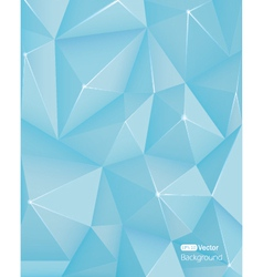 Abstract light blue triangle background vector