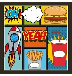 fast food pop art vector image