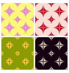 Seamless pattern geometric Set vector image