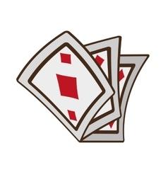 cartoon ace pocker magic vector image