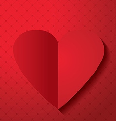 Valentines day red heart vector