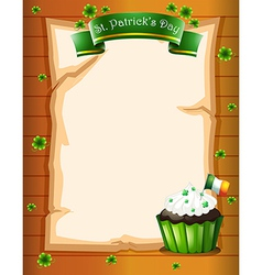 A st patricks day stationery vector