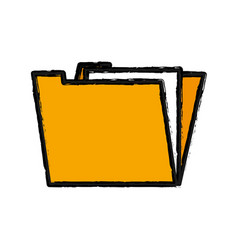 Yellow documents file folder icon vector