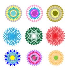 Set floral pattern vector