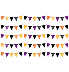 Halloween colorful bunting or flags vector