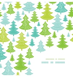 Holiday christmas trees corner decor pattern vector