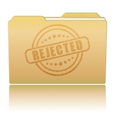 Folder with rejected damaged stamp vector