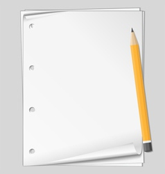 paper with pencil vector image