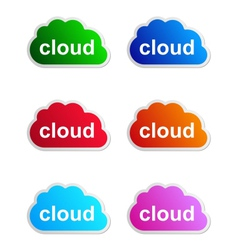 Cloud label vector image