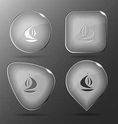 Ship glass buttons vector