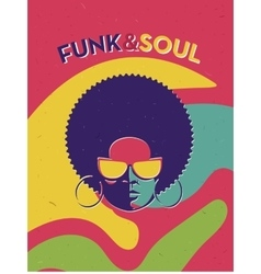 Disco party event flyer creative vintage poster vector
