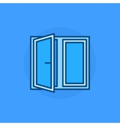 Open window blue icon vector