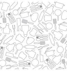 Cooking seamless pattern kitchen utensils vector