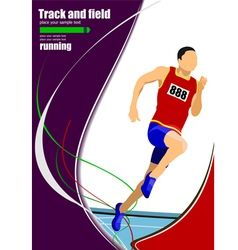 al 1112 Track and field 03 vector image