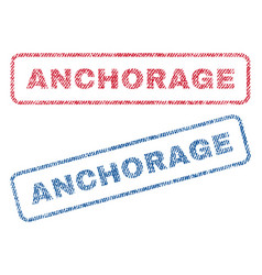 Anchorage textile stamps vector