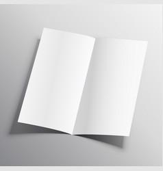 Bi-fold paper mockup design template vector