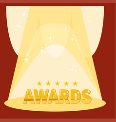 bright podium for awards vector image vector image