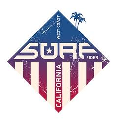 California west coast surfers pacific ocean team vector