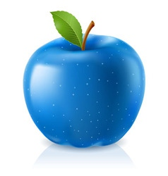 delicious blue apple vector image vector image