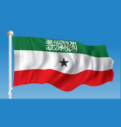 Flag of somaliland vector