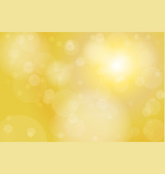 gold yellow bokeh abstract background vector image vector image