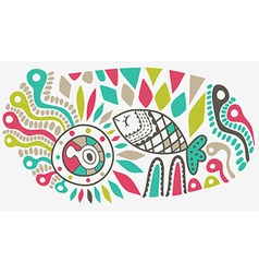 hand-drawn abstract design ethnic abstract vector image vector image