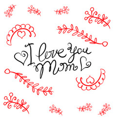 happy mother day card style vector image vector image